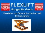 Flexlift Produkte - FLEXLIFT Hubgeräte GmbH