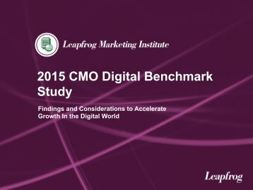 2015 CMO Digital Benchmark Study