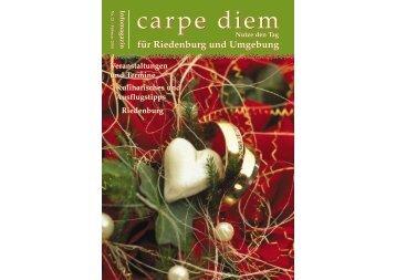 für Riedenburg und Umgebung - carpe diem magazine