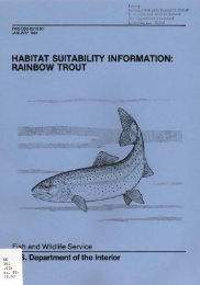habitat suitability information: rainbow trout - USGS National ...