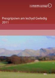 Presgripsiwn am Iechyd Gwledig 2011