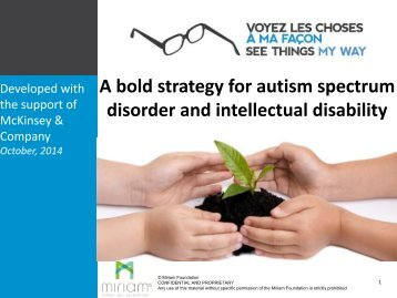 A bold strategy for autism spectrum disorder and intellectual disability