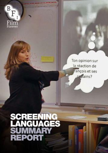 SCREENING LANGUAGES SUMMARY REPORT