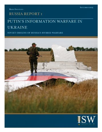 PUTIN'S INFORMATION WARFARE IN UKRAINE