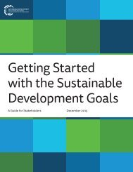 Getting Started with the Sustainable Development Goals