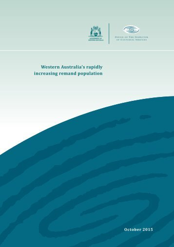 Western Australia's rapidly increasing remand population
