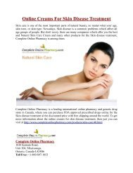 Online Creams For Skin Disease Treatment