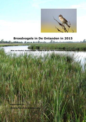 Broedvogels in De Onlanden in 2015