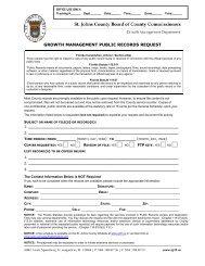 GROWTH MANAGEMENT PUBLIC RECORDS REQUEST