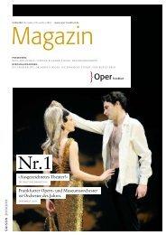 Opernmagazin November / Dezember 2010 - Oper Frankfurt