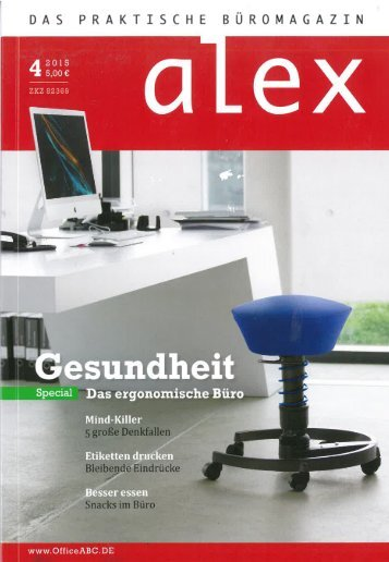 "Das Golf Resort Achental im Büromagazin ""alex"""