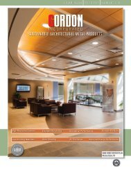 SUSTAINABLE ARCHITECTURAL METAL PRODUCTS