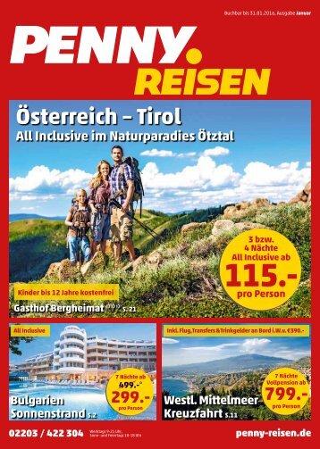 PENNY Reisen Prospekt Januar 2016
