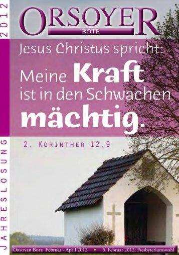 Orsoyer Bote - Evangelische Kirchengemeinde Orsoy
