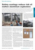 Safety Coatings Reduce Risk of Molten Aluminium ... - Pyrotek - Page 2