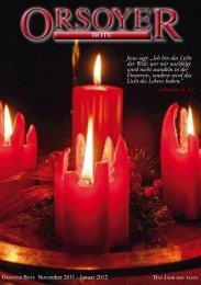 Seniorennachrichten - Evangelische Kirchengemeinde Orsoy
