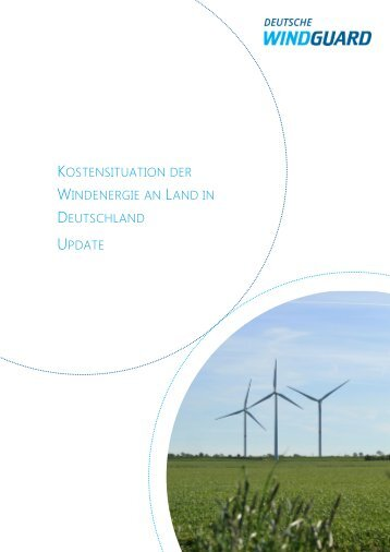 Kostensituation der Windenergie an Land in Deutschland update