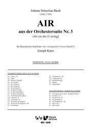 Air aus der Orchestersuite Nr. 3 - Air on the G string - Demopartitur (BO-006)