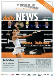 daily - Porsche Tennis Grand Prix