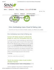Buy Accurate List of Companies using Citrix XenDesktop from Span Global Services