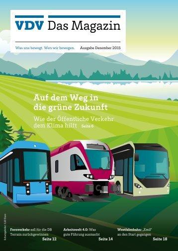 VDV Das Magazin Ausgabe Dezember 2015