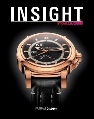 Magazin «Insight» No.6 (PDF) - Carl F. Bucherer