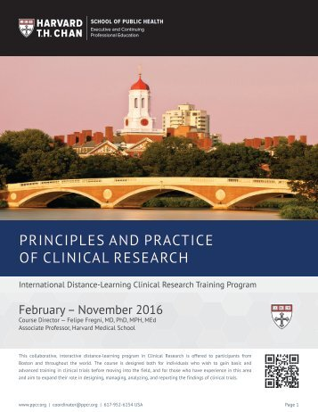 PRINCIPLES AND PRACTICE OF CLINICAL RESEARCH
