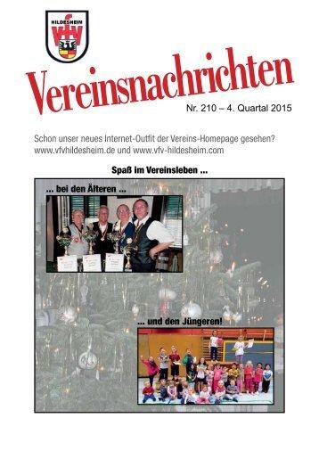 VfV Hildesheim - Vereinszeitung 4/2015