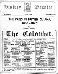 The Press In British Guiana 1856-1876 by Hazel Woolford.