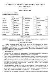 CONSIGLIO REGIONALE DELL' ABRUZZO - Regione Abruzzo