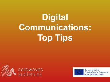 Digital Communications Top Tips