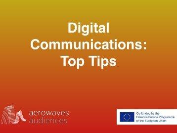Digital Communications Top Tips