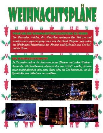 Revista navideña (Weihnachtspläne)