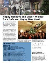 Fisher College Community Newsletter - Winter 2015-2016