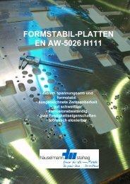FORMSTABIL-PLATTEN EN AW-5026 H111
