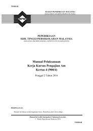 Manual Pelaksanaan Kerja Kursus Pengajian Am Kertas 4 (900/4)