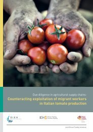 Counteracting exploitation of migrant workers in Italian tomato production
