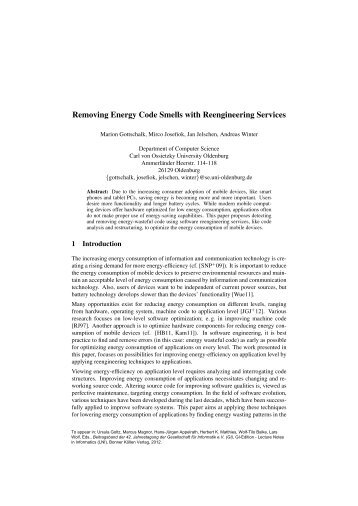 Removing Energy Code Smells with Reengineering Services
