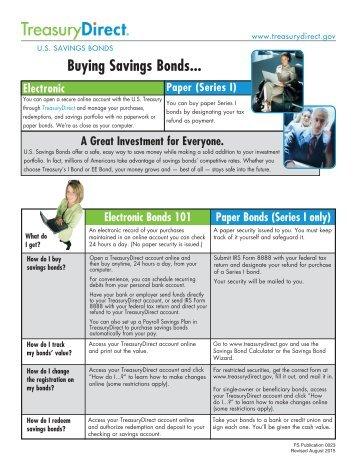 Buying Savings Bonds..