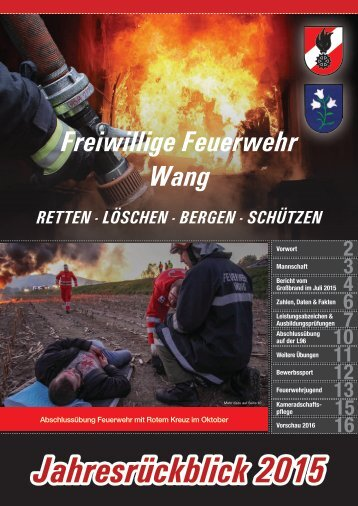 Jahresrückblick 2015 Freiwillige Feuerwehr Wang
