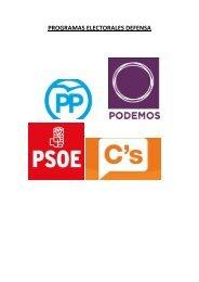 PROGRAMAS ELECTORALES DEFENSA
