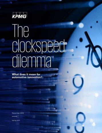 The clockspeed dilemma