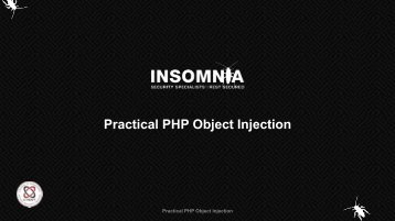 Practical PHP Object Injection