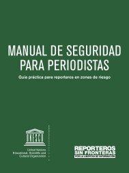 MANUAL DE SEGURIDAD PARA PERIODISTAS
