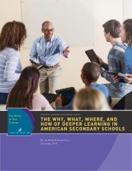 THE WHY WHAT WHERE AND HOW OF DEEPER LEARNING IN AMERICAN SECONDARY SCHOOLS