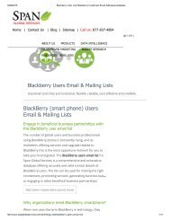 Purchase Customized List of BlackBerry Companies from Span Global Services
