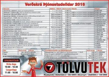 Verðskrá þjónustudeildar 2015_JOL