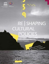 RE | SHAPING CULTURAL POLICIES