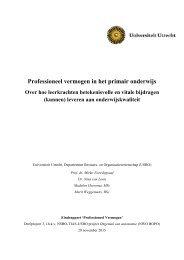 Professioneel vermogen in het primair onderwijs
