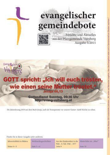 evangelischer gemeindebote 5/2015